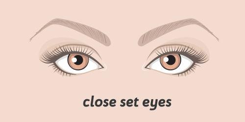 Eng stehende Augen