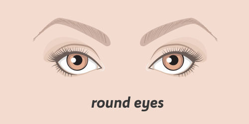 Runde Augen