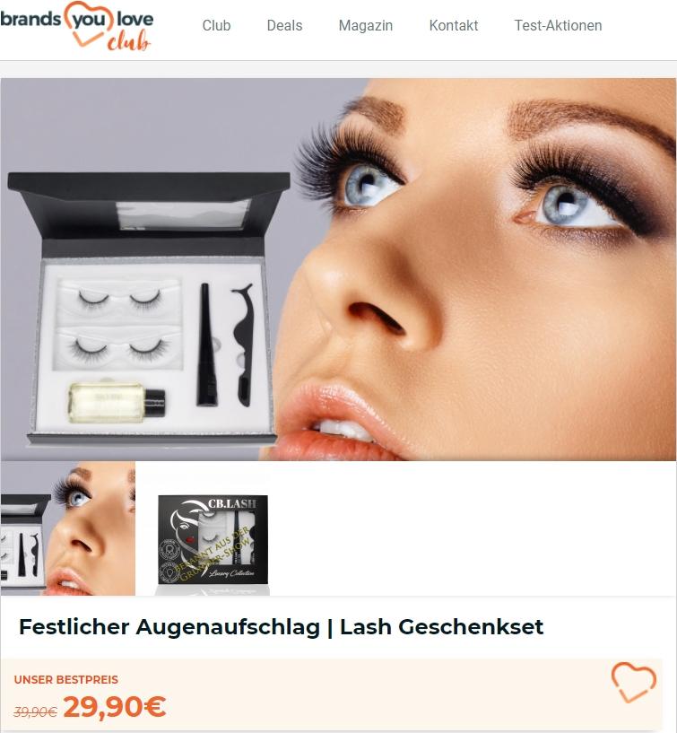 Shopping-Deal mit club.brandsyoulove.de Festlicher Augenaufschlag | Lash Geschenkset